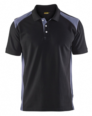 Blaklader 3324 Pique 2 Colour Polo Shirt (Black/Grey)